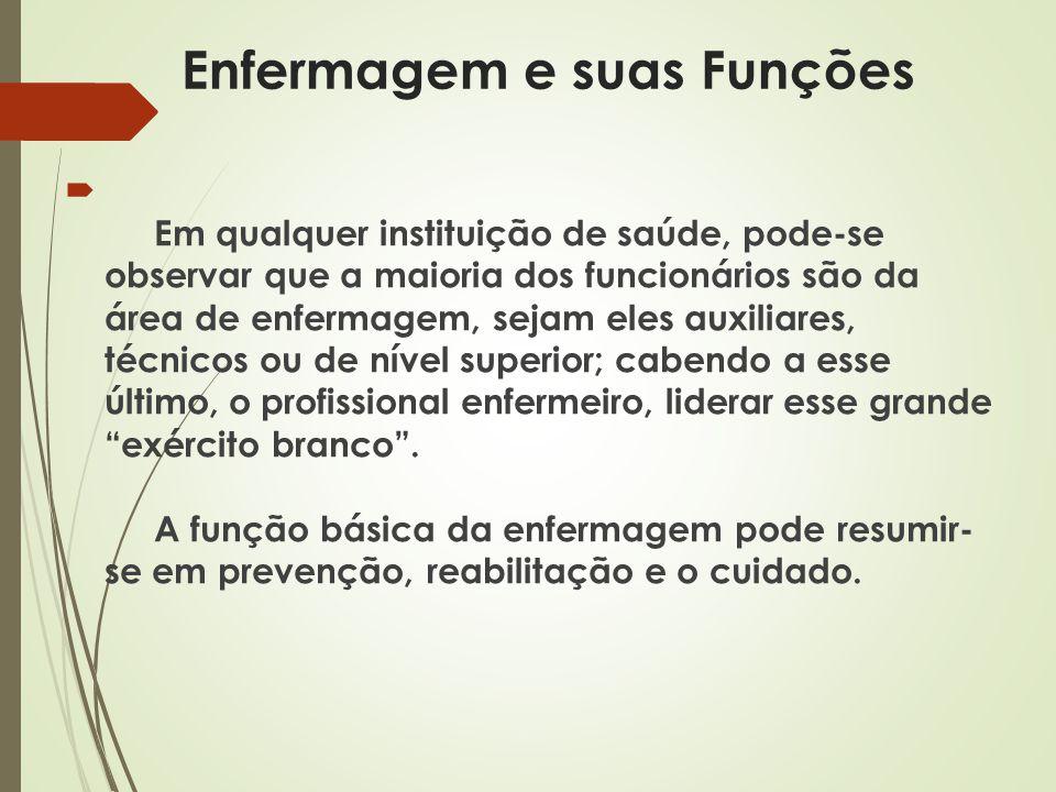 A Regulamentação da atividade de Enfermagem  Brasil lei aprovada em 25 de junho de 1986 ( Lei 7.498) tendo sido regulamentada através do Decreto nº94.406, de 08 junho de 1987.