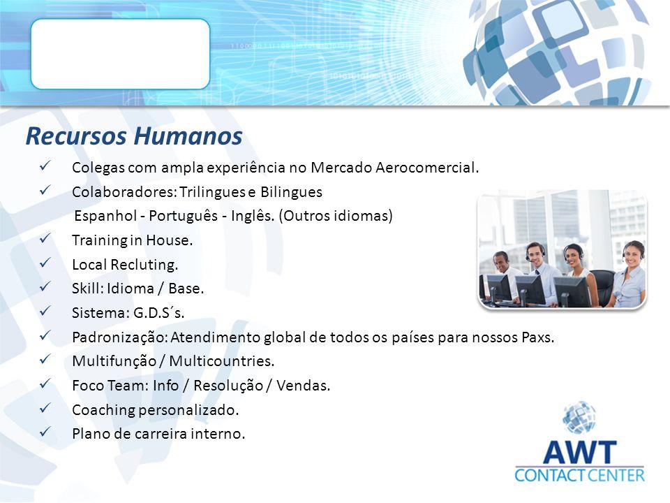 Recursos Humanos Colegas com ampla experiência no Mercado Aerocomercial.