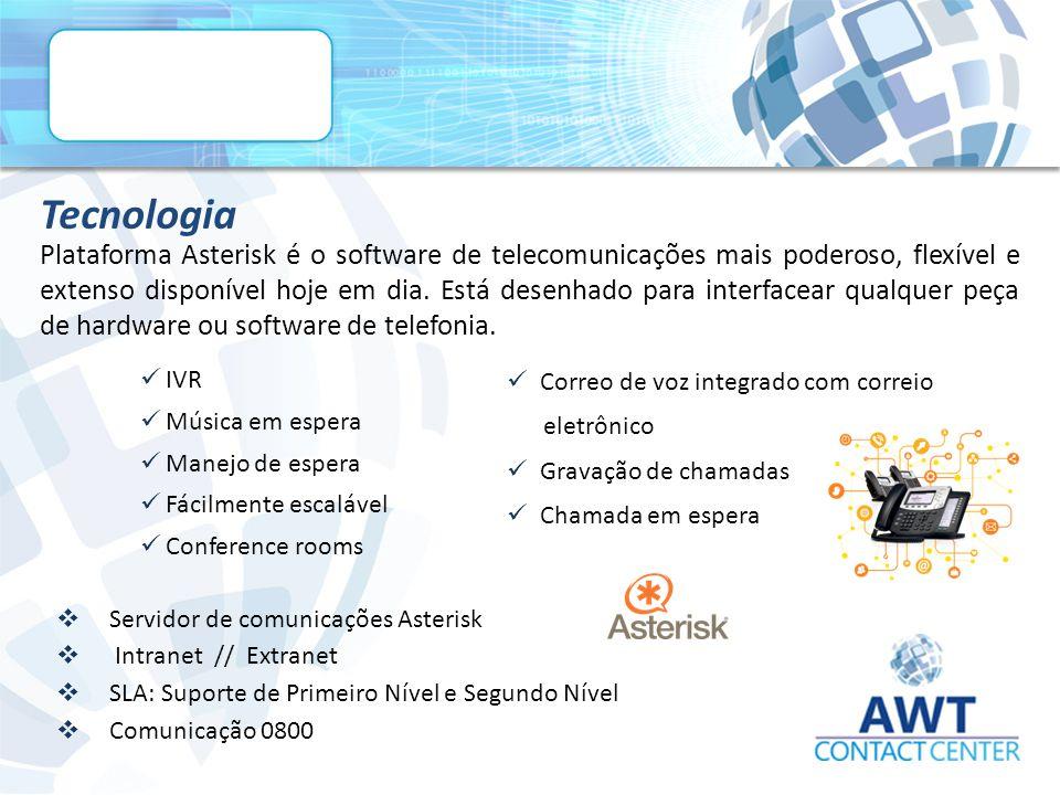 Plataforma Asterisk é o software de telecomunicações mais poderoso, flexível e extenso disponível hoje em dia.