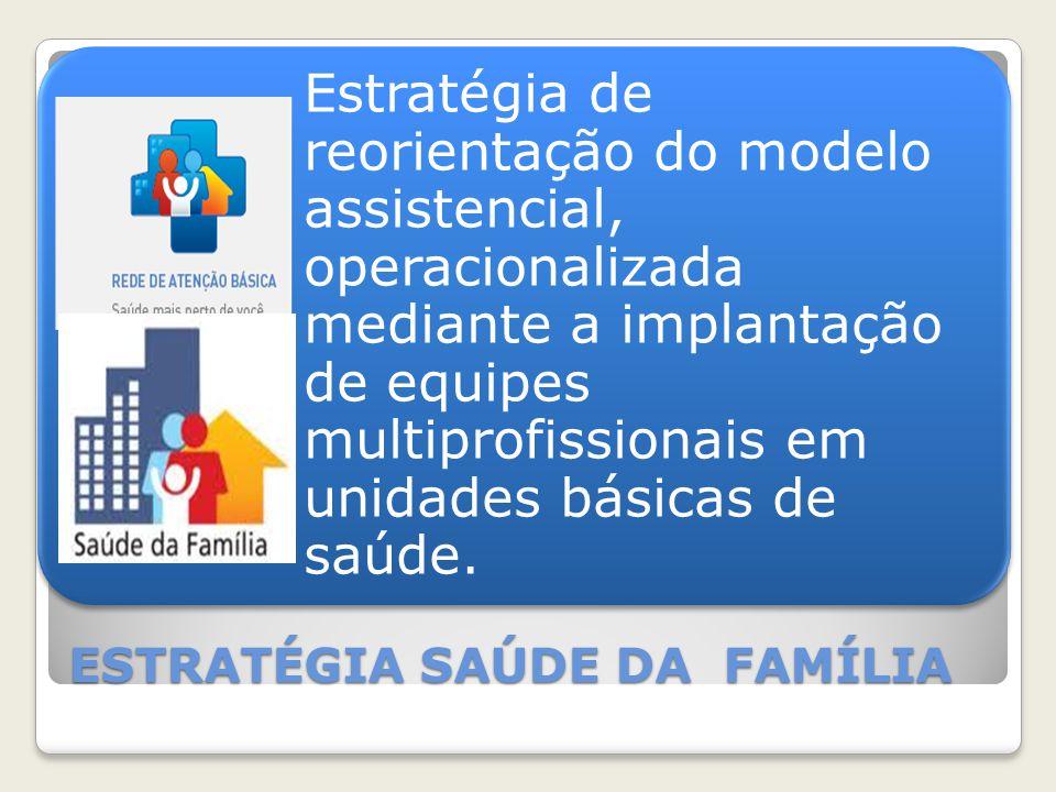 Estratégia de reorientação do modelo assistencial, operacionalizada mediante a implantação de equipes multiprofissionais em unidades básicas de saúde.