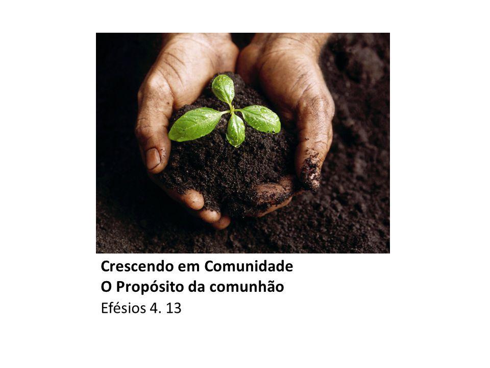 Crescendo em Comunidade O Propósito da comunhão Efésios 4. 13