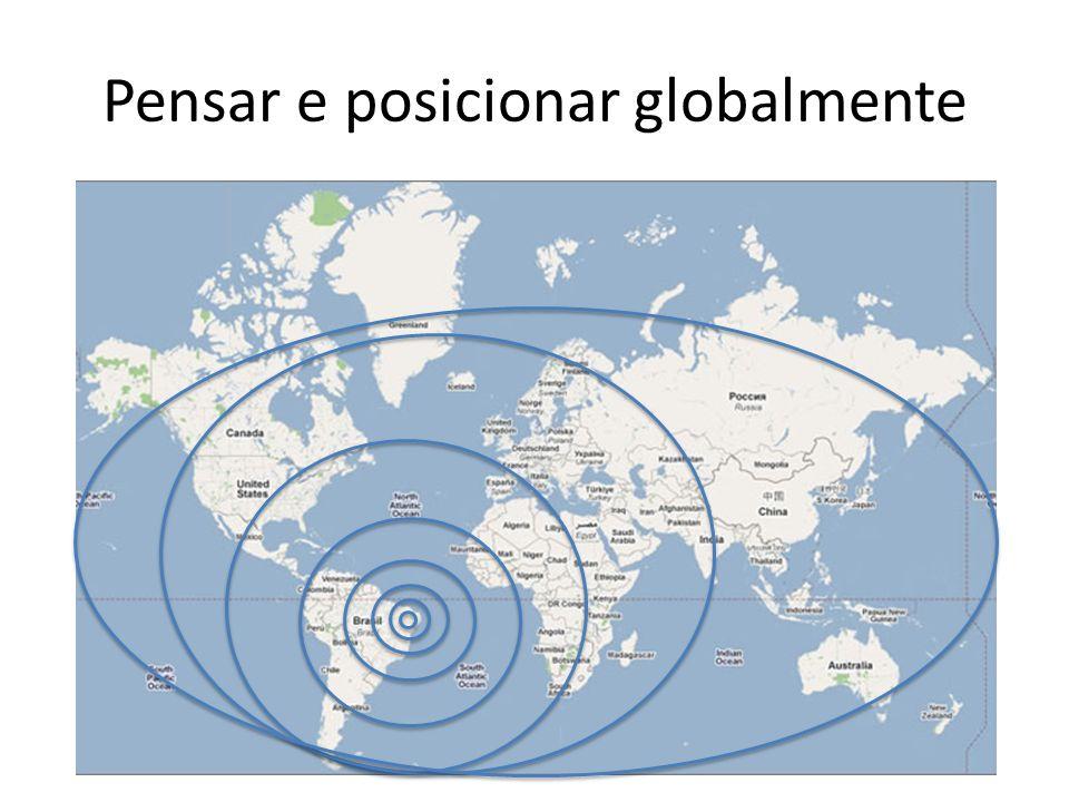 Pensar e posicionar globalmente