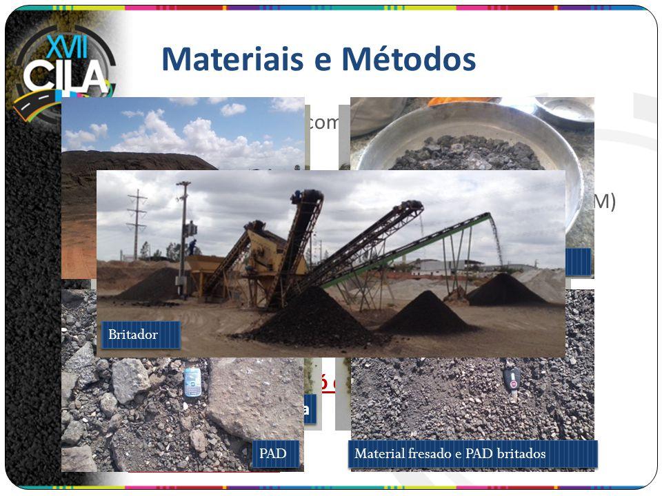 Materiais e Métodos Ligante: CAP 50/70 com PG 70-28 fornecido pela Lubnor/Petrobras. Aditivo surfactante de Mistura Asfáltica Morna (MAM) (GEMUL XT-14