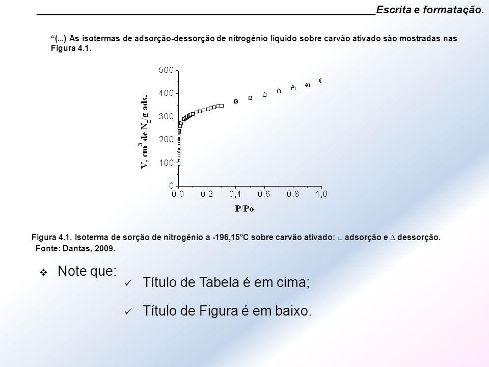 """________________________________________________________Escrita e formatação. """"(...) As isotermas de adsorção-dessorção de nitrogênio líquido sobre ca"""