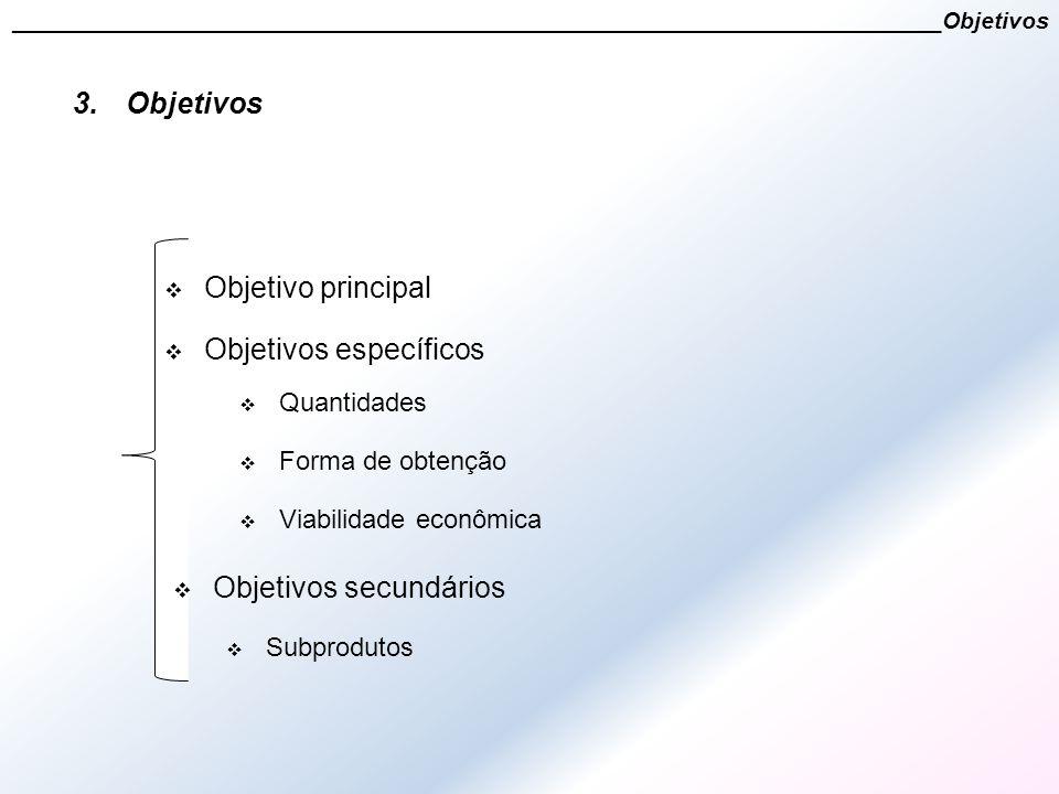 3.Objetivos  Objetivo principal  Objetivos específicos _______________________________________________________________________Objetivos  Quantidade