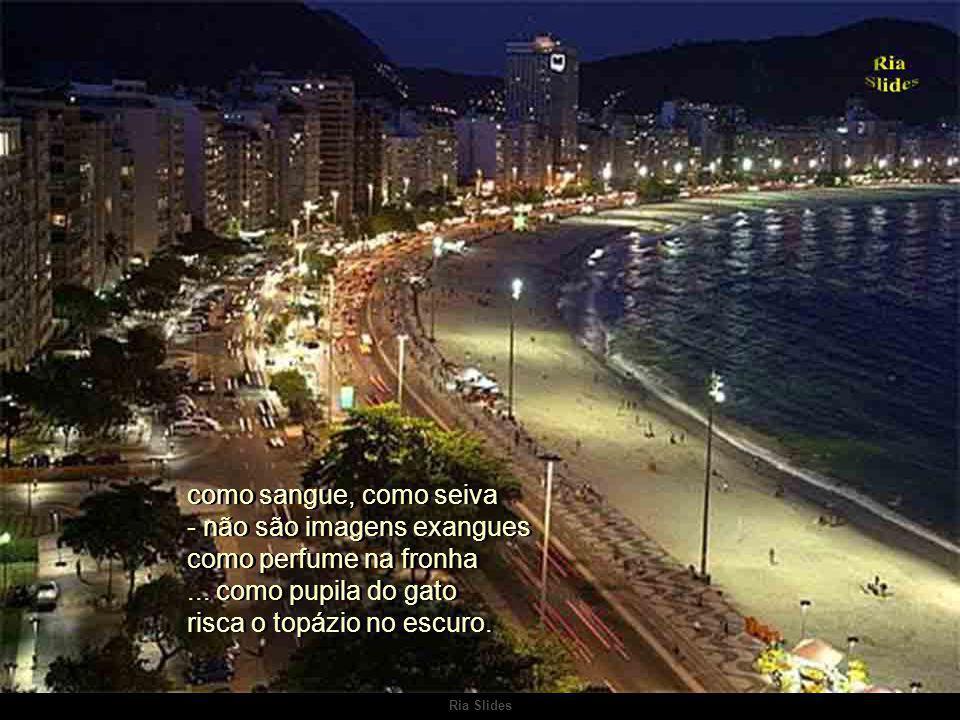 Ria Slides Rio, nome sussurrante, Rio que te vais passando a mar de estórias e sonhos e em teu constante janeiro corres pela nossa vida Rio, nome suss