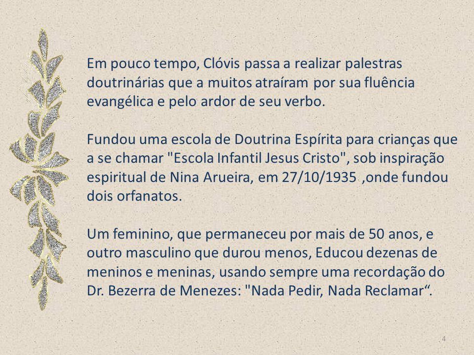 Após a morte de sua noiva, Nina Arueira, tornou-se espírita ao reconhecê-la numa comunicação mediúnica com muitos traços de autenticidade, bastante pa