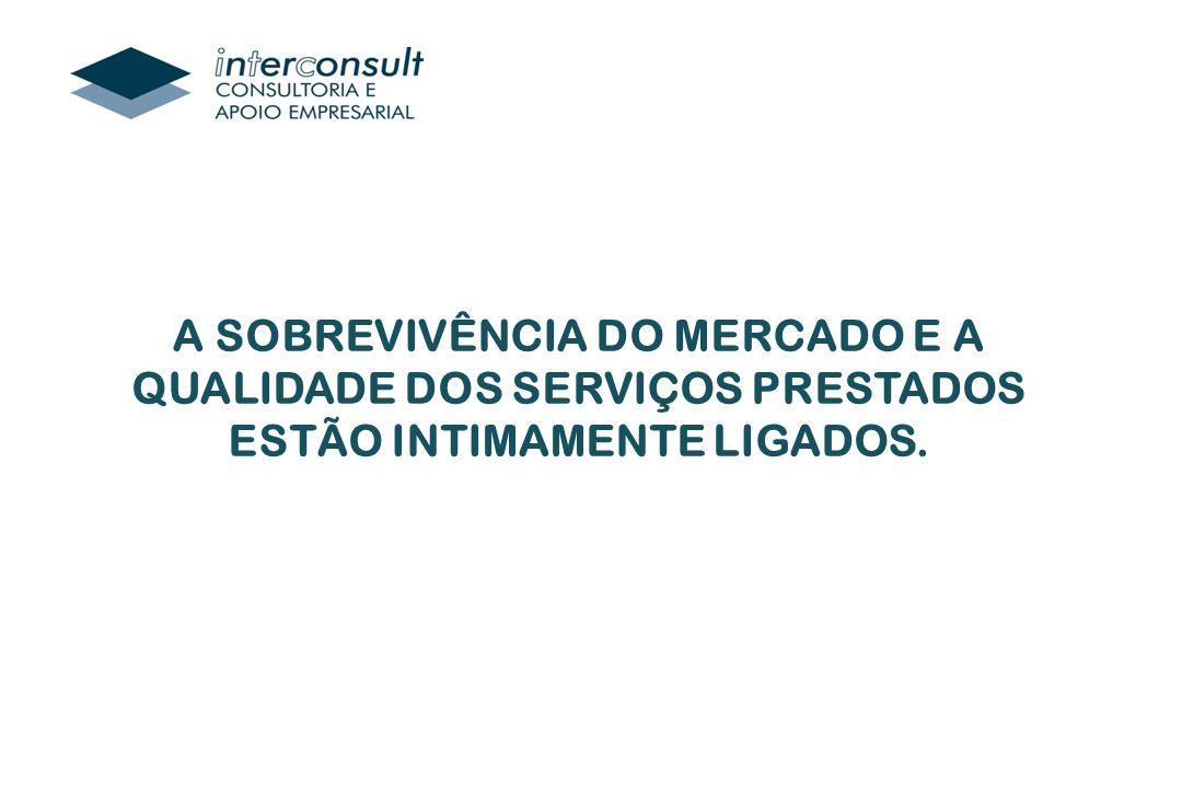A SOBREVIVÊNCIA DO MERCADO E A QUALIDADE DOS SERVIÇOS PRESTADOS ESTÃO INTIMAMENTE LIGADOS.