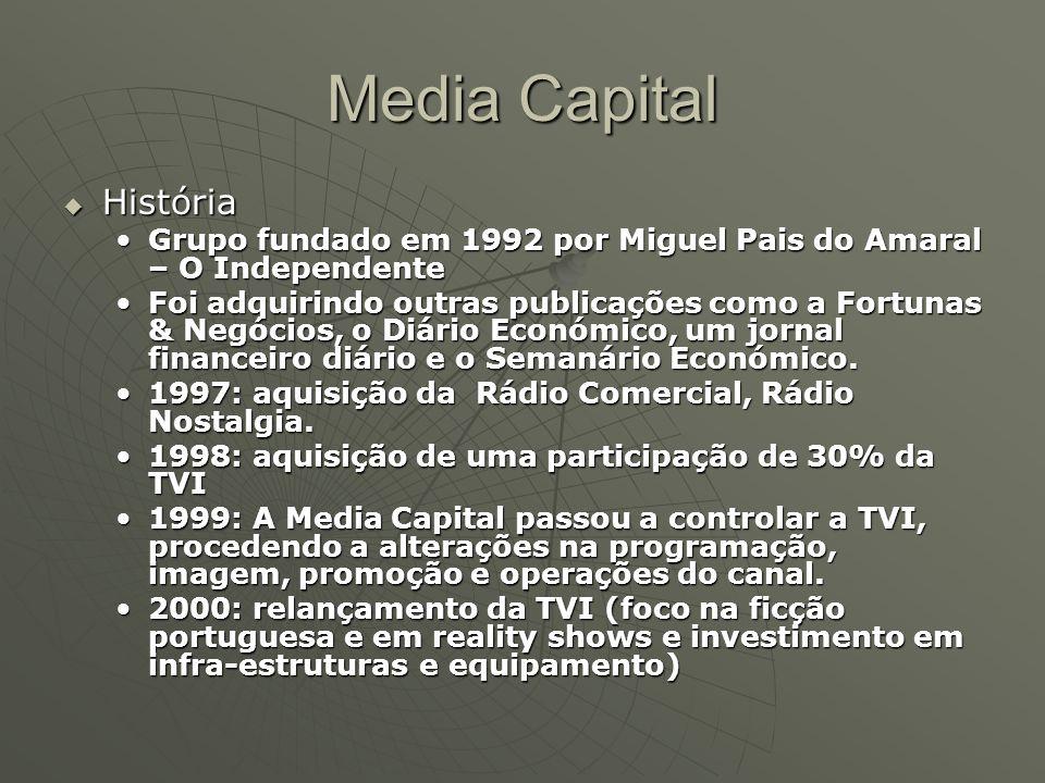 Media Capital  História Grupo fundado em 1992 por Miguel Pais do Amaral – O IndependenteGrupo fundado em 1992 por Miguel Pais do Amaral – O Independe