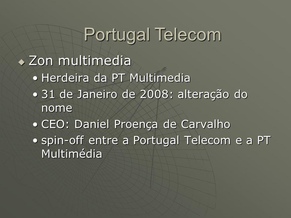  Zon multimedia Herdeira da PT MultimediaHerdeira da PT Multimedia 31 de Janeiro de 2008: alteração do nome31 de Janeiro de 2008: alteração do nome C