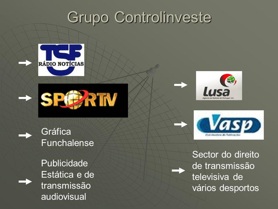 Gráfica Funchalense Publicidade Estática e de transmissão audiovisual Sector do direito de transmissão televisiva de vários desportos Grupo Controlinv