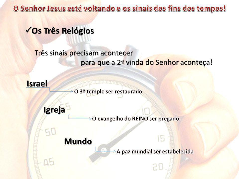 Os Três Relógios Os Três Relógios Três sinais precisam acontecer Três sinais precisam acontecer para que a 2ª vinda do Senhor aconteça.