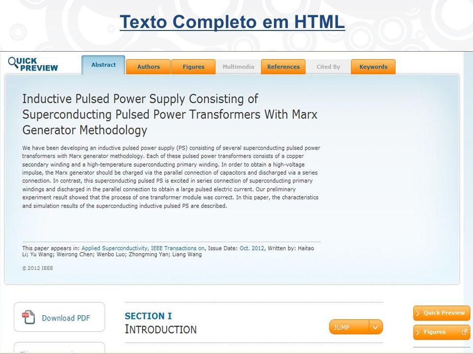 Texto Completo em HTML