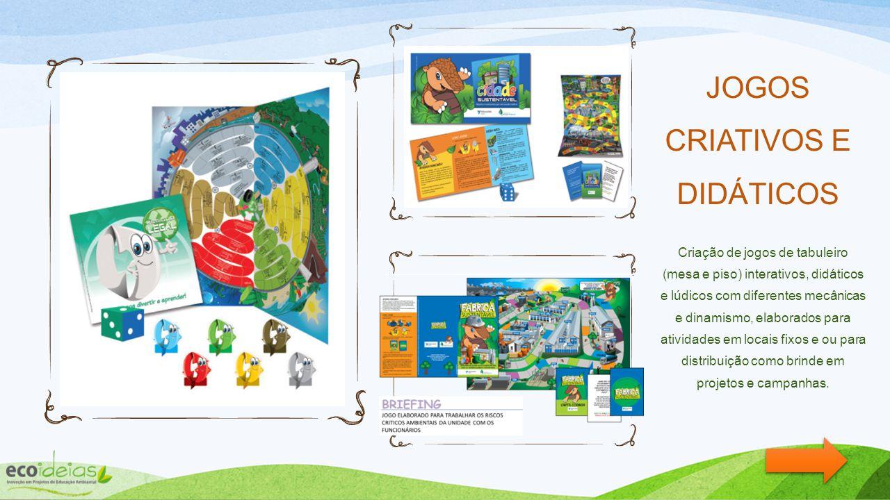 Banners interativos e didáticos Banner da Decomposição e Banner da coleta seletiva. Elaborados com pontos de velcro e peças soltas para que participan