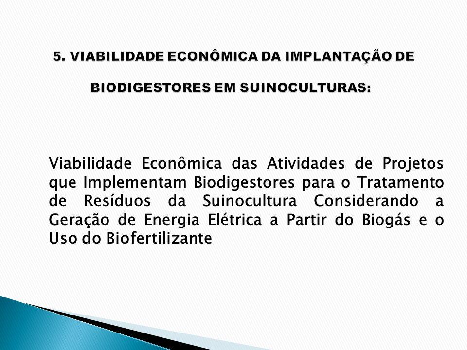 Viabilidade Econômica das Atividades de Projetos que Implementam Biodigestores para o Tratamento de Resíduos da Suinocultura Considerando a Geração de