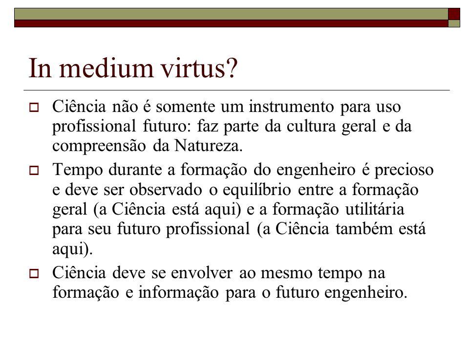 In medium virtus.