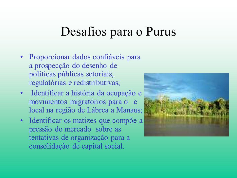 Desafios para o Purus Proporcionar dados confiáveis para a prospecção do desenho de políticas públicas setoriais, regulatórias e redistributivas; Iden