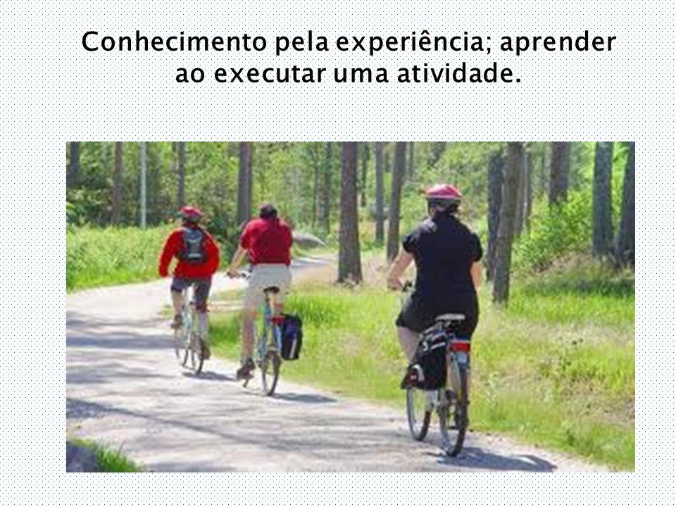 Conhecimento pela experiência; aprender ao executar uma atividade.
