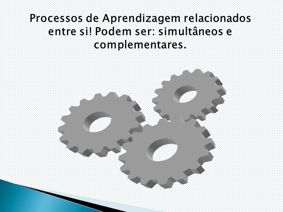 Processos de Aprendizagem relacionados entre si! Podem ser: simultâneos e complementares.