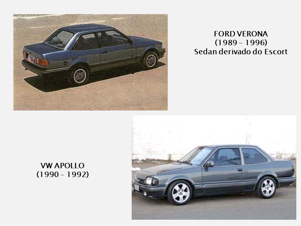 VW APOLLO (1990 – 1992) FORD VERONA (1989 – 1996) Sedan derivado do Escort