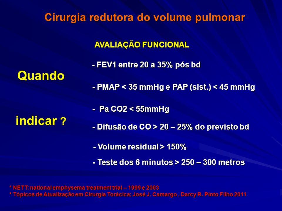 Cirurgia redutora do volume pulmonar....Quando indicar .