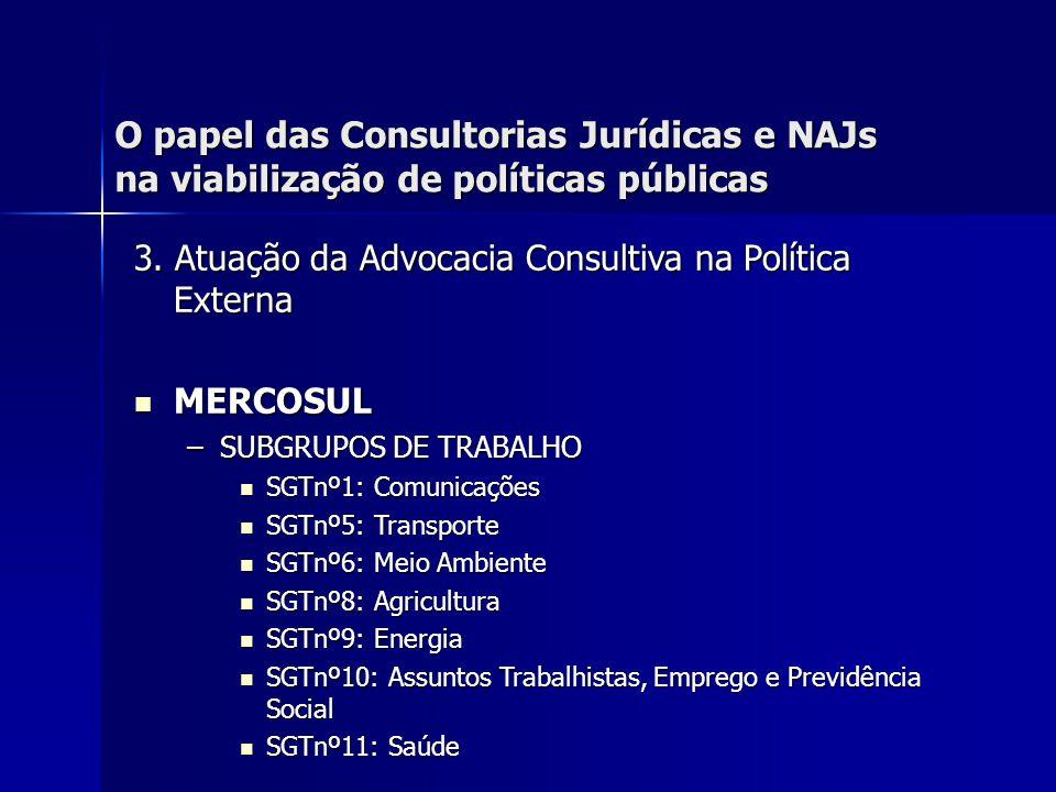 O papel das Consultorias Jurídicas e NAJs na viabilização de políticas públicas 3.