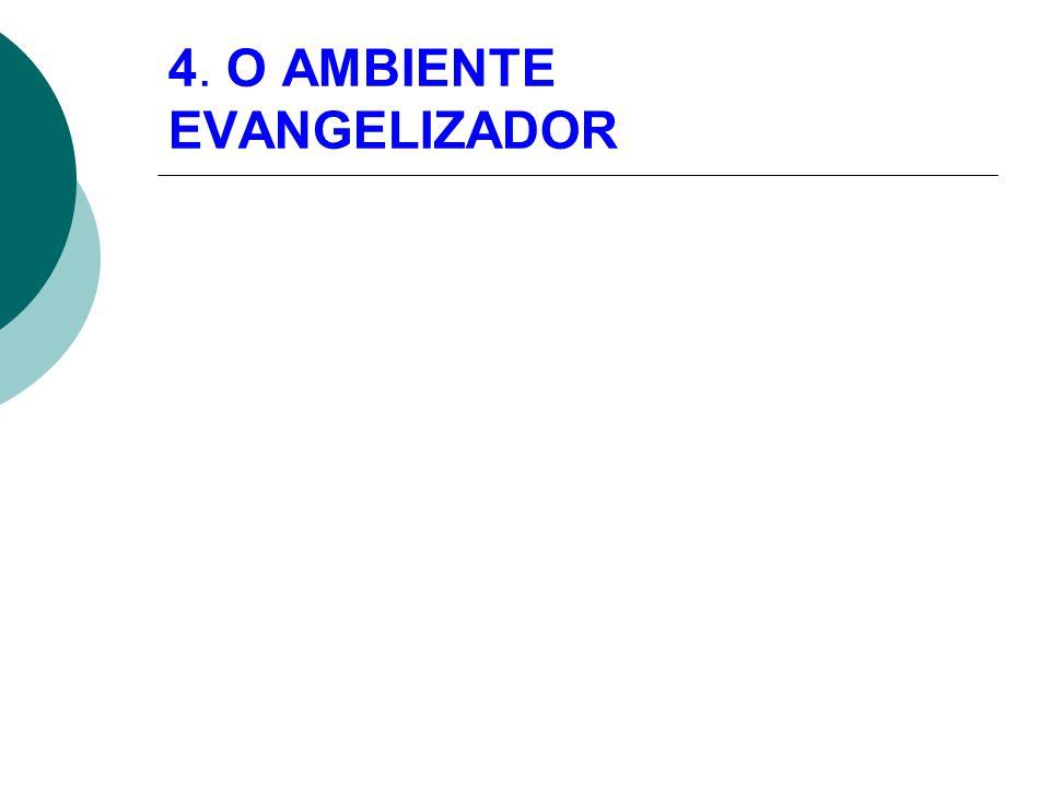 4. O AMBIENTE EVANGELIZADOR