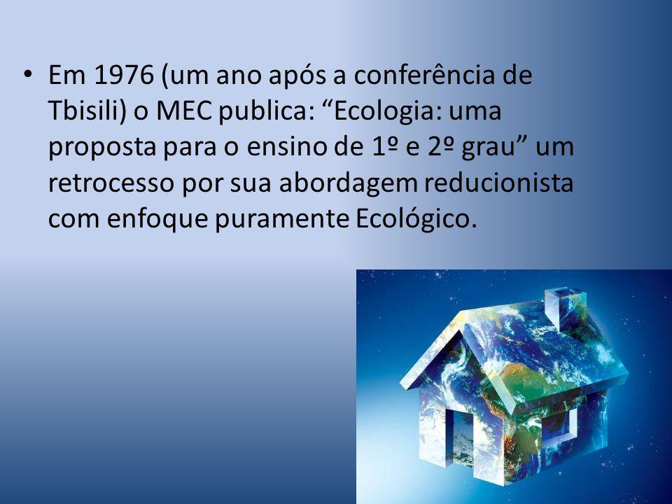 Em 1981, a despeito de estarmos em plena ditadura o então presidente João Figueiredo sanciona a Lei 6938 que dispunha sobre a Política Nacional do Meio Ambiente.