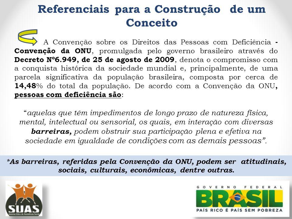 Referenciais para a Construção de um Conceito A Convenção sobre os Direitos das Pessoas com Deficiência - Convenção da ONU, promulgada pelo governo br