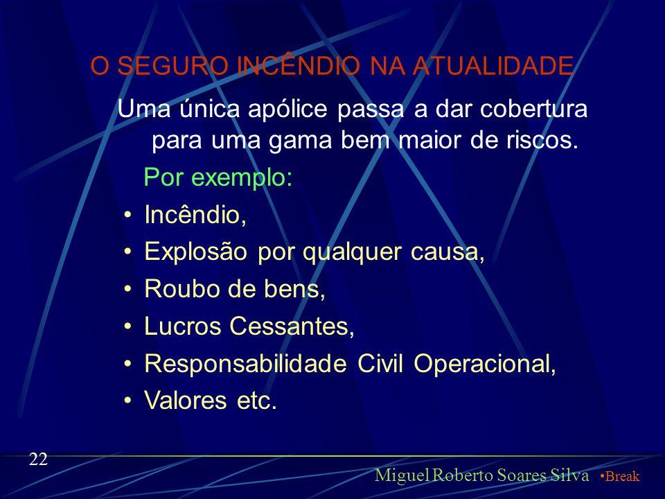 O SEGURO INCÊNDIO NA ATUALIDADE Miguel Roberto Soares Silva Com a liberação das tarifas e abertura do mercado para as seguradoras estrangeiras, todos
