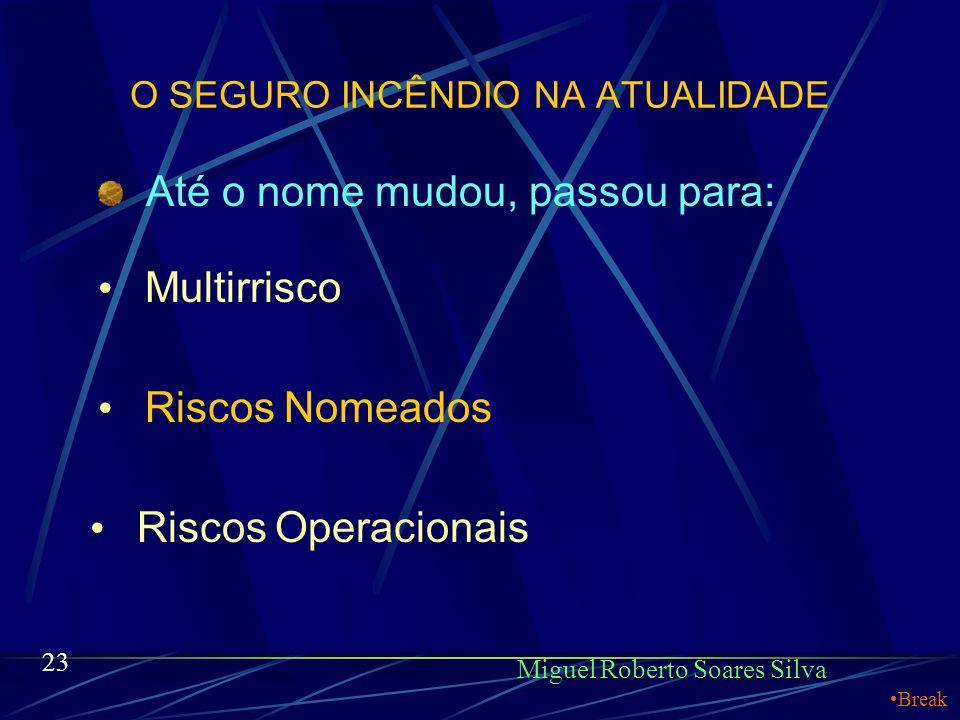 O SEGURO INCÊNDIO NA ATUALIDADE Miguel Roberto Soares Silva Uma única apólice passa a dar cobertura para uma gama bem maior de riscos. Por exemplo: In