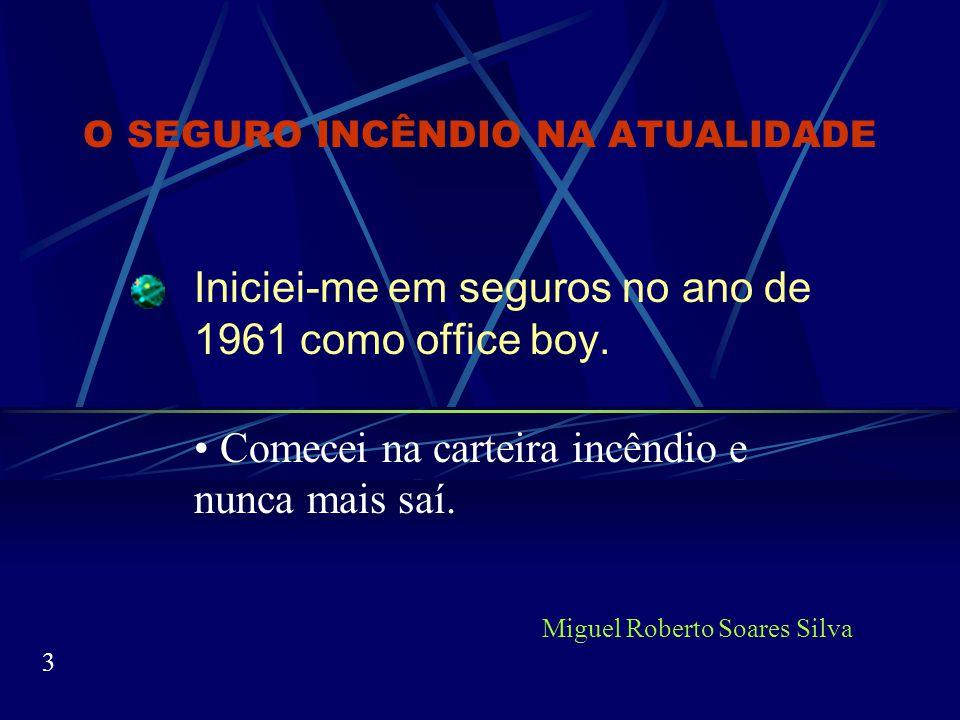 O SEGURO INCÊNDIO NA ATUALIDADE Até o nome mudou, passou para: Multirrisco Miguel Roberto Soares Silva 23 Break Riscos Nomeados Riscos Operacionais