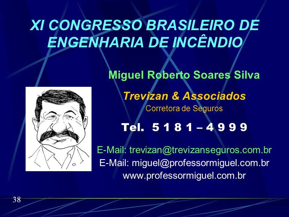 O SEGURO INCÊNDIO NA ATUALIDADE Miguel Roberto Soares Silva O nosso tema é longo porém o nosso tempo é curto. Agradeço a administração do evento pela