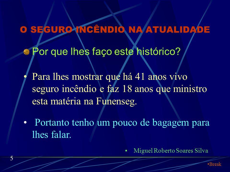 O SEGURO INCÊNDIO NA ATUALIDADE Em 1983 escrevi o único Material Didático existente no Brasil sobre tarifação individual e descontos no seguro incêndi