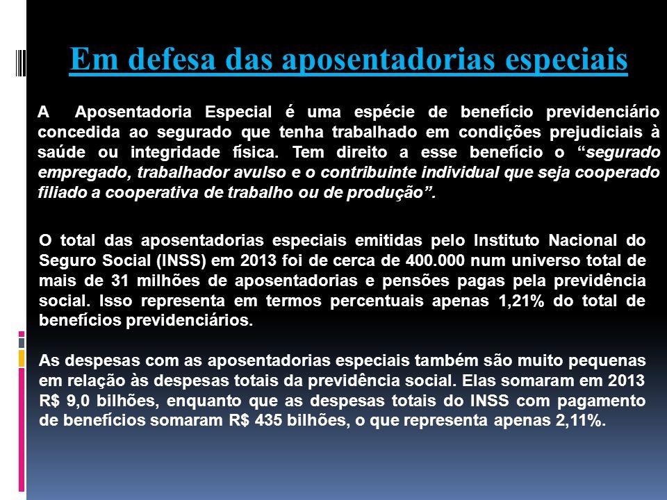 Em defesa das aposentadorias especiais A Aposentadoria Especial é uma espécie de benefício previdenciário concedida ao segurado que tenha trabalhado e