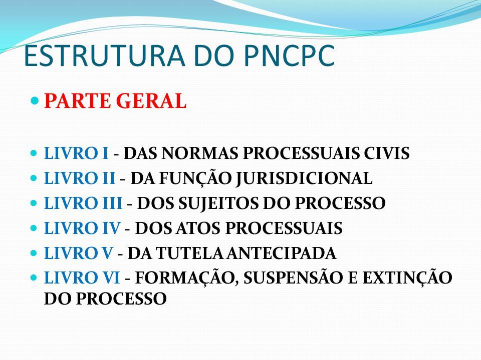PARTE ESPECIAL LIVRO I - DO PROCESSO DE CONHECIMENTO E DO CUMPRIMENTO DE SENTENÇA LIVRO II - DO PROCESSO DE EXECUÇÃO LIVRO III - DOS PROCESSOS NOS TRIBUNAIS E DOS MEIOS DE IMPUGNAÇÃO DAS DECISÕES JUDICIAIS LIVRO COMPLEMENTAR - DAS DISPOSIÇÕES FINAIS E TRANSITÓRIAS