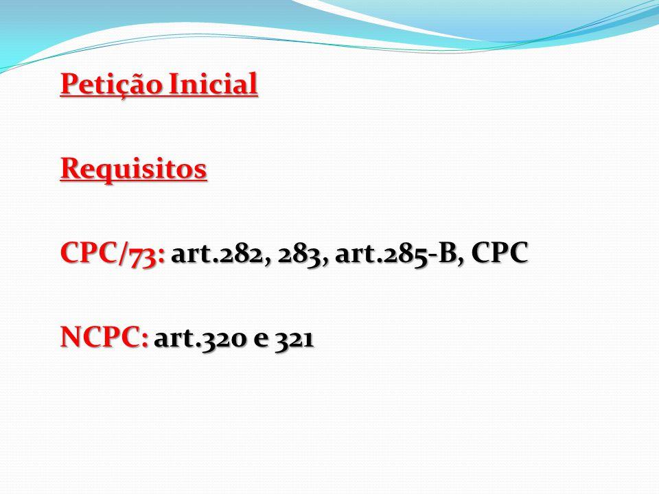 PNCPC ( art.323 ao art.325, CPC) Art.323.