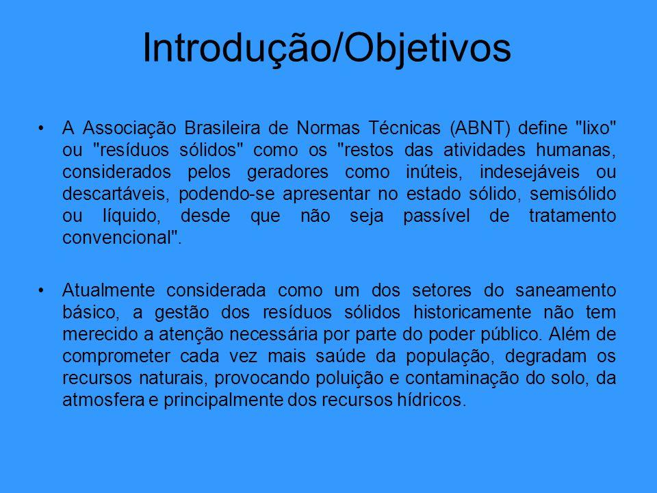 Introdução/Objetivos A Associação Brasileira de Normas Técnicas (ABNT) define
