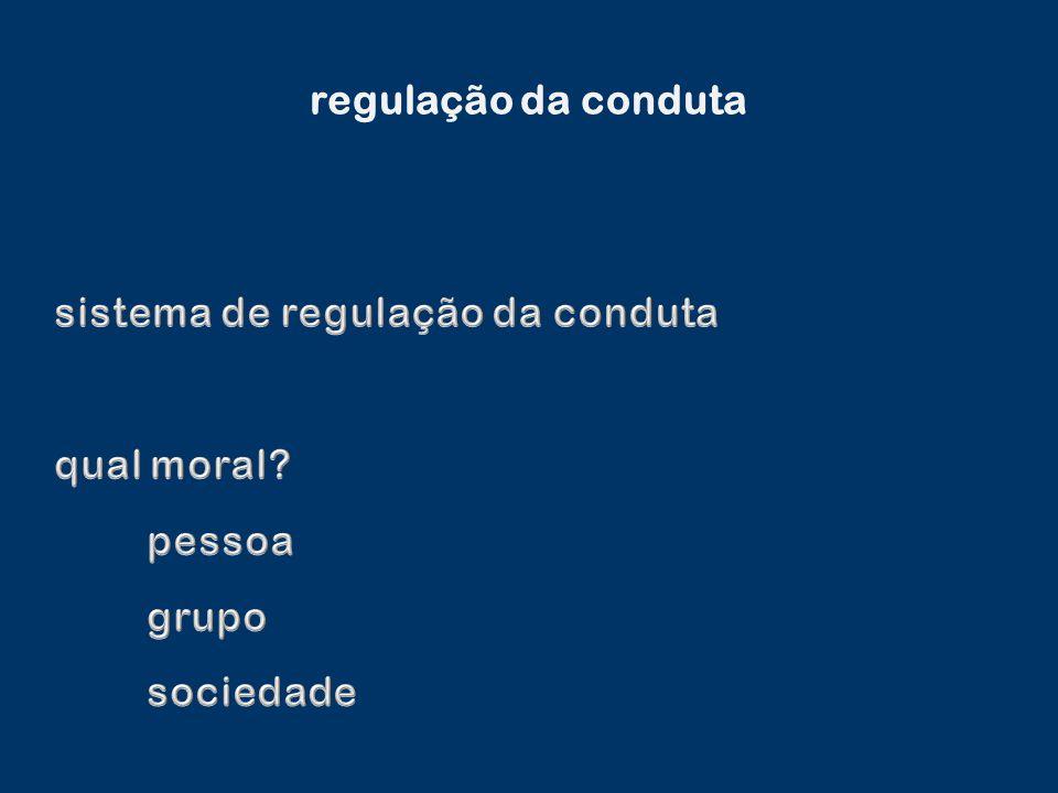 regulação da conduta