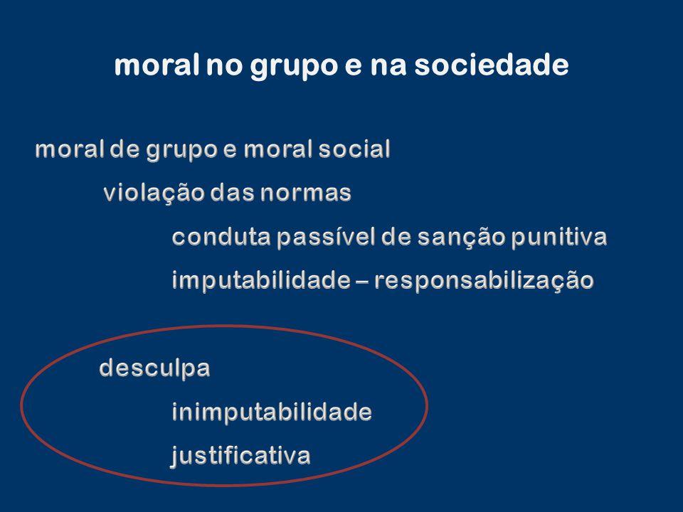 moral no grupo e na sociedade