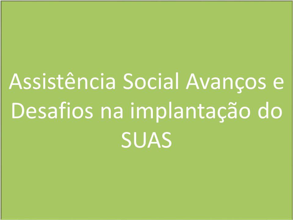 Assistência Social Avanços e Desafios na implantação do SUAS