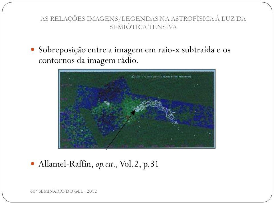 60° SEMINÁRIO DO GEL - 2012 Sobreposição entre a imagem em raio-x subtraída e os contornos da imagem rádio. Allamel-Raffin, op.cit., Vol.2, p.31 AS RE