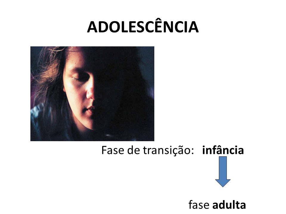 ADOLESCÊNCIA Fase de transição: infância fase adulta