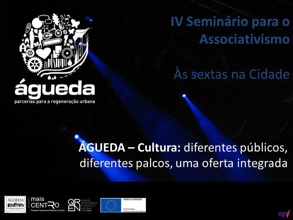 ÁGUEDA – Cultura: diferentes públicos, diferentes palcos, uma oferta integrada IV Seminário para o Associativismo Às sextas na Cidade