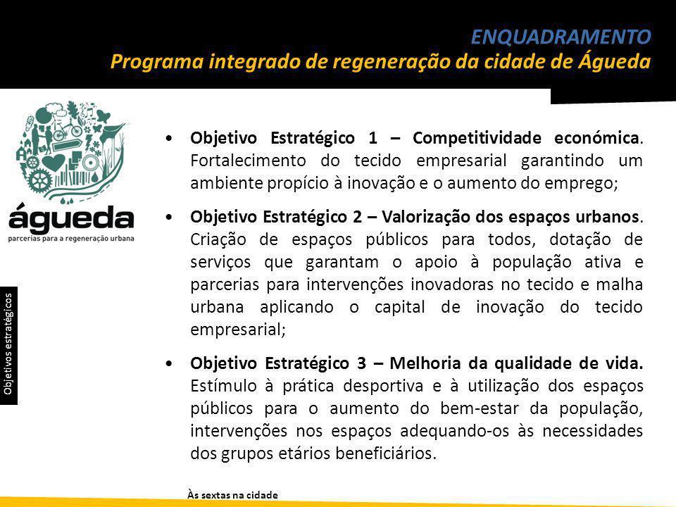 Programa integrado de regeneração da cidade de Águeda ENQUADRAMENTO Objetivo Estratégico 1 – Competitividade económica.