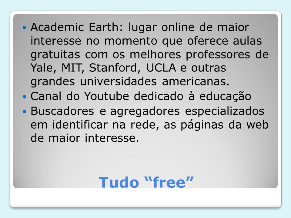 Tudo free Academic Earth: lugar online de maior interesse no momento que oferece aulas gratuitas com os melhores professores de Yale, MIT, Stanford, UCLA e outras grandes universidades americanas.