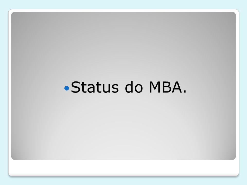 Status do MBA.