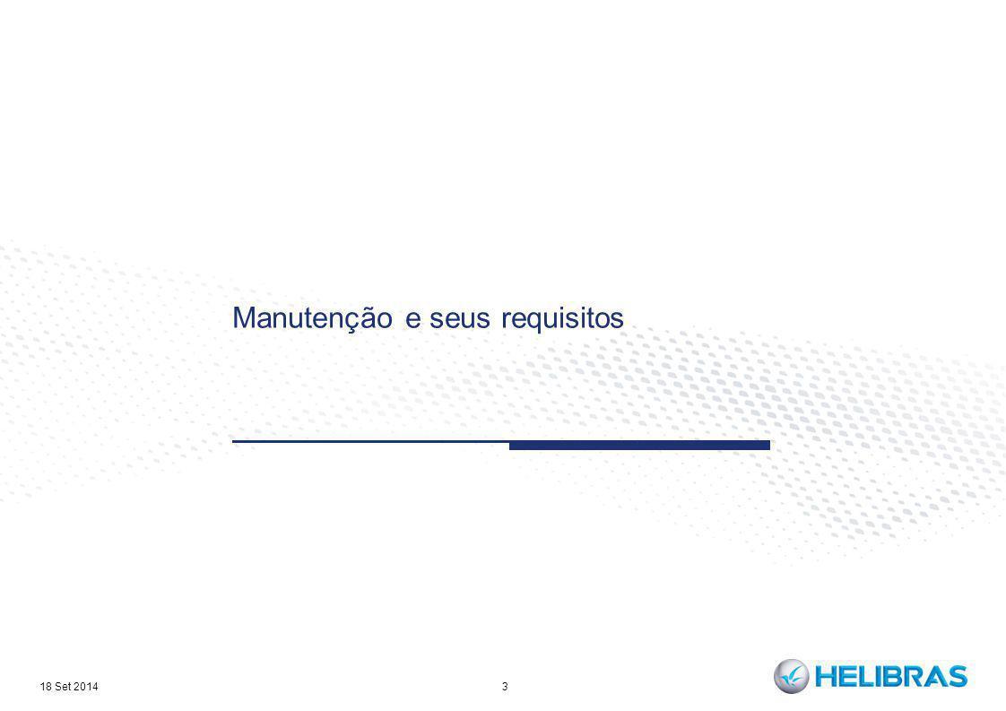Manutenção e seus requisitos 3 18 Set 2014
