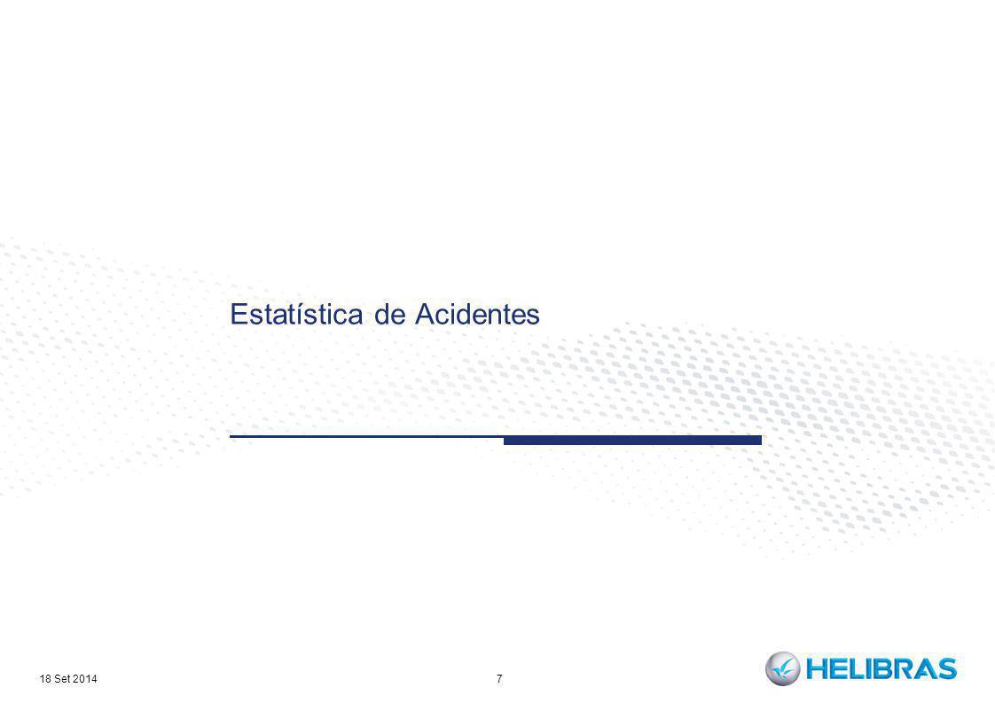 Estatística de Acidentes 7 18 Set 2014