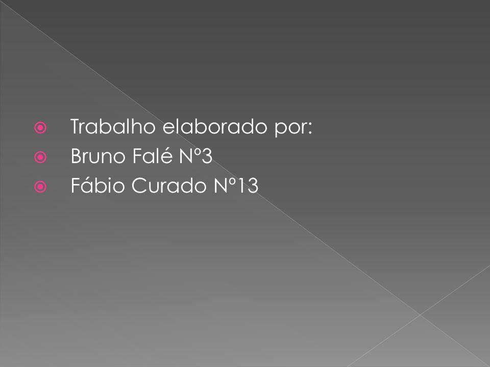  Trabalho elaborado por:  Bruno Falé Nº3  Fábio Curado Nº13